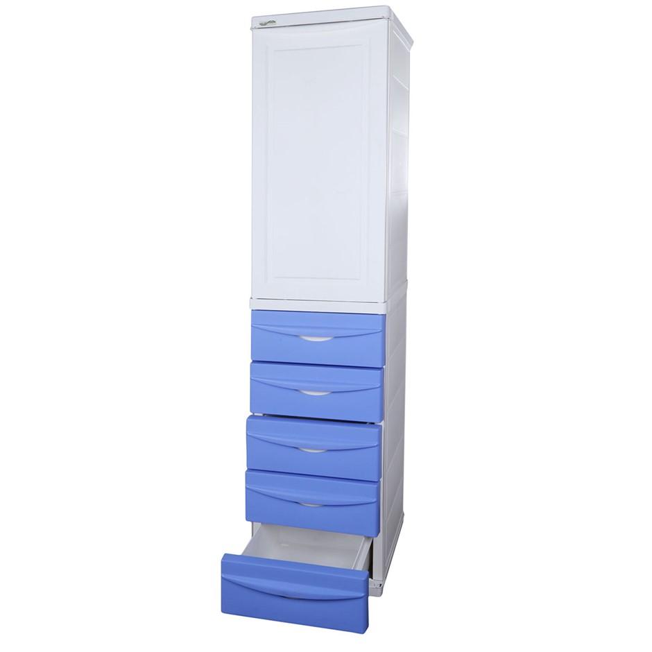 TRIOPLAST Resin Indoor/Outdoor Storage Unit, 38cm x 42 x 170cm Height w/ 5