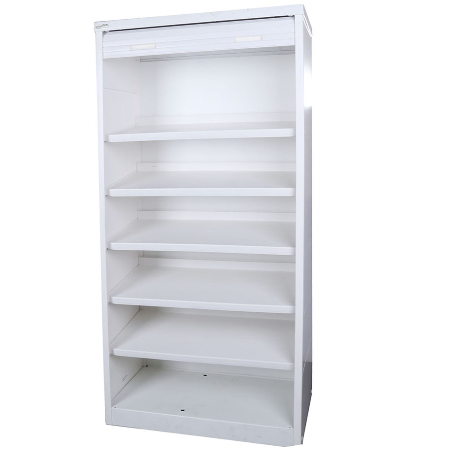 TRIOPLAST Resin Indoor/Outdoor Roller Door Cabinet w/ 3- Shelves, 70x40x150