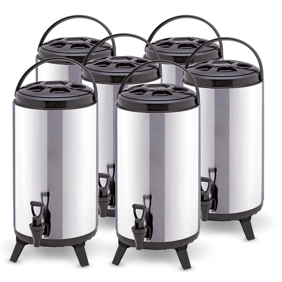 SOGA 6 x 10L Portable Insulated Cold/Heat Pot With Dispenser