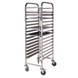 SOGA Gastronorm Trolley 15 Tier S/S Cake