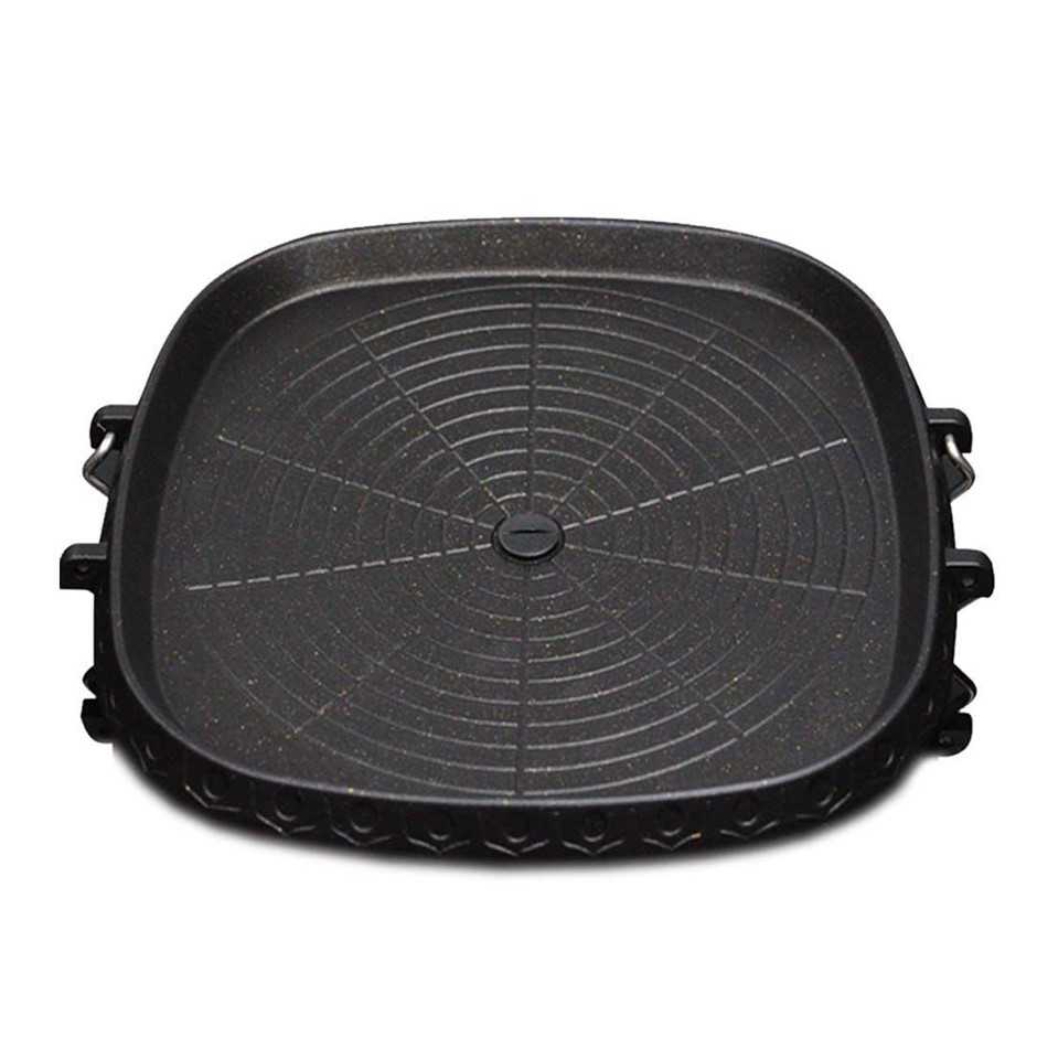 Portable Korean BBQ Butane Gas Stove Stone Grill Plate Non Stick Coated Sqr