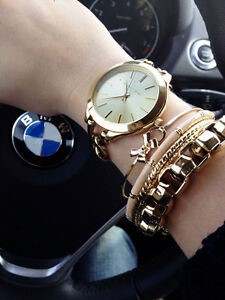 Ladies new Michael Kors NY Couture stunning modern link watch.