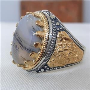 Incredible Genuine Quartz Men's Statement Ring