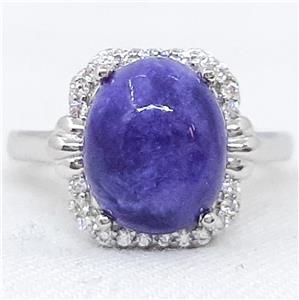 Amazing Genuine Charoite Ring.