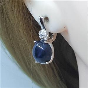 Striking Genuine Star Sapphire Earrings