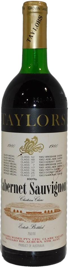 Taylors Clare Valley Cabernet Sauvignon 1980 (1x 750mL), SA. Cork