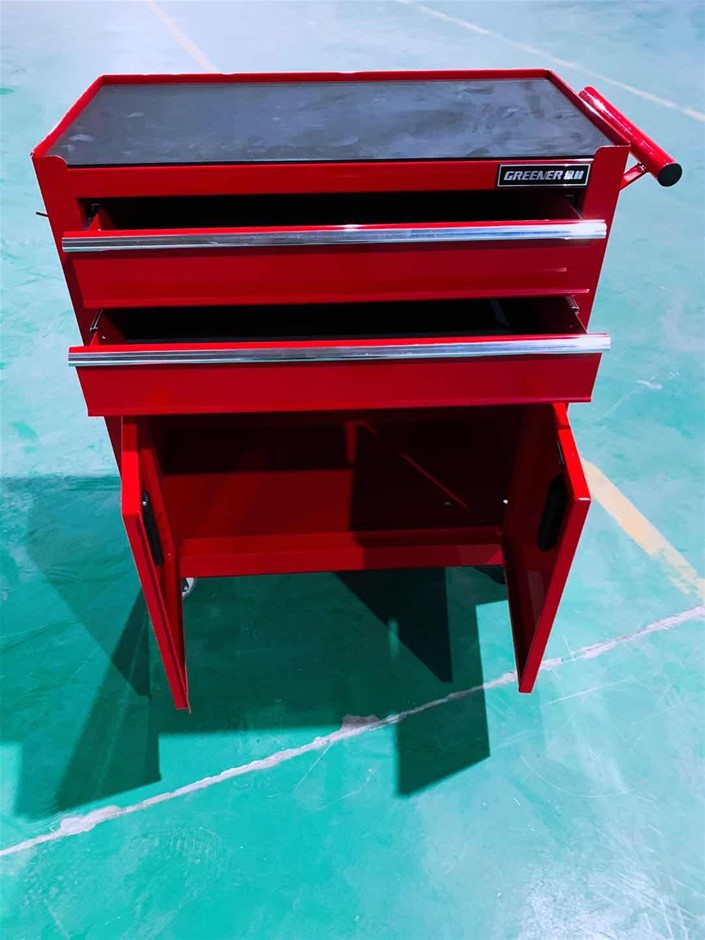 2 Doors and 2 Drawers Cabinet with Mobile Wheels