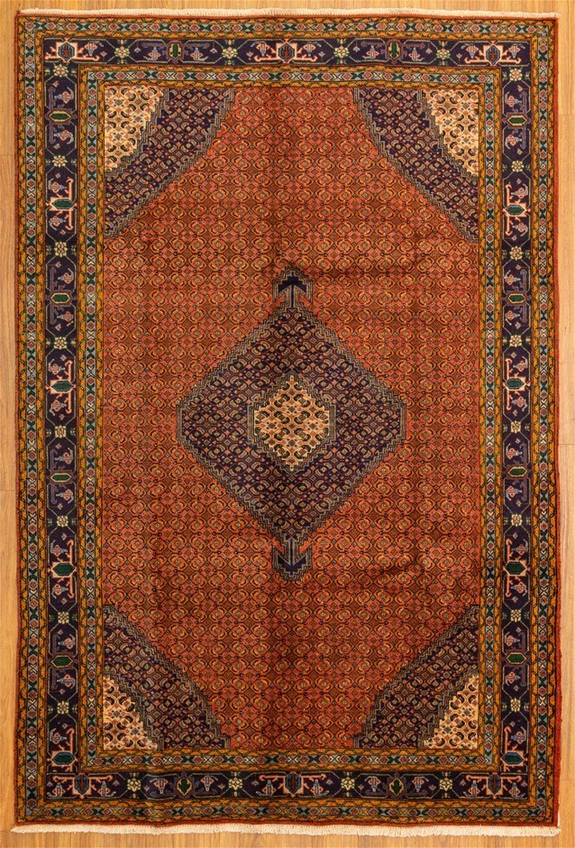 Handwoven Pure Wool Persian Tabriz Rug - Size 295cm x 200cm
