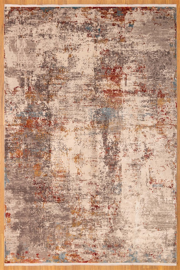 Handmade Bamboo Silk Very Fine Indian Contemporary Rug - Size 295cm x 195cm