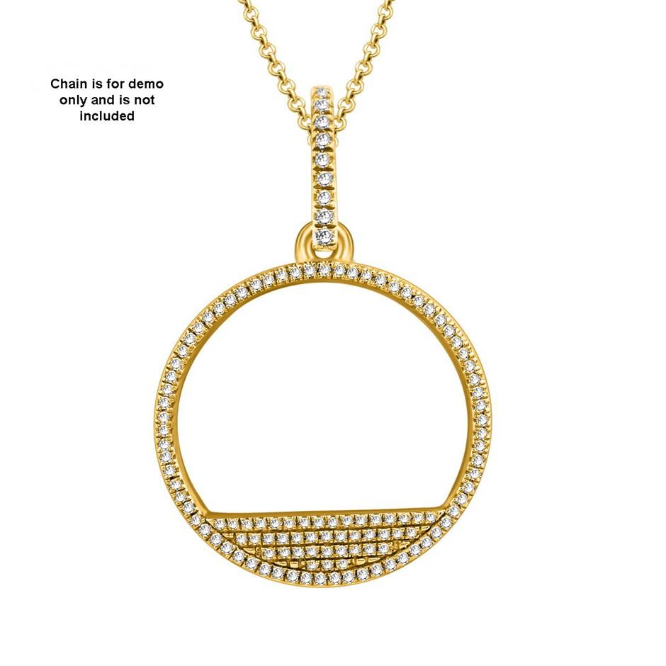 9ct Yellow Gold, 0.16ct Diamond Pendant