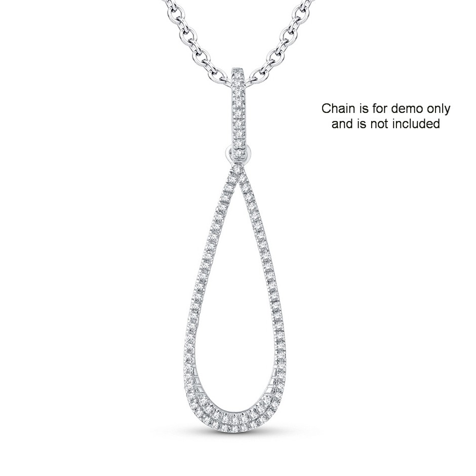 9ct White Gold, 0.10ct Diamond Pendant