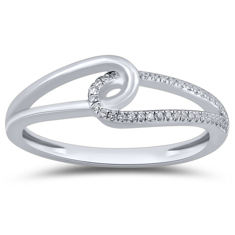 9ct White Gold, 0.05ct Diamond Ring