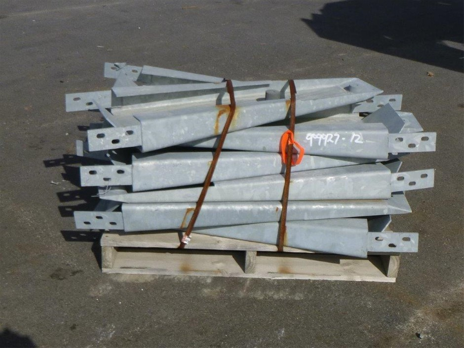 Pallet of Cable Barrier Metal Sections