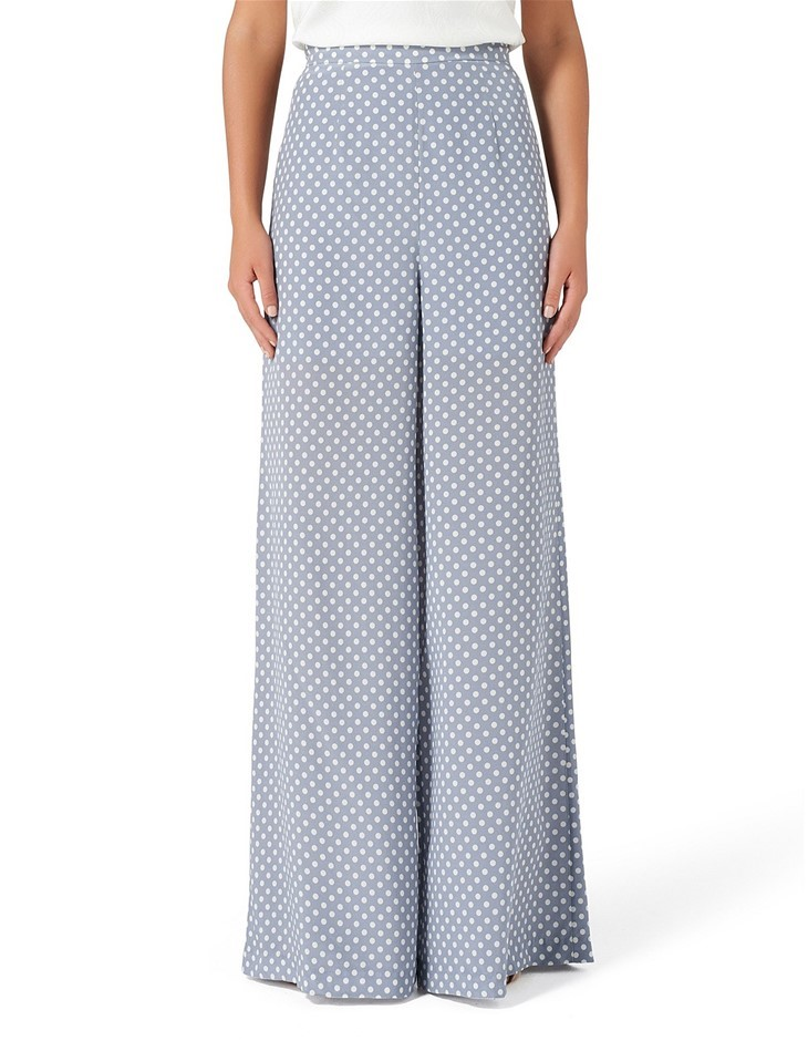 THURLEY Pearl Palazzo Pant. Size 6, Colour: Spot Print Dusty Blue. ORP: $39