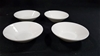 Qty 48x WHITE CHINA CONDIMENT OR SALT & PEPPER DISHES - 80MM D - NEW (27383
