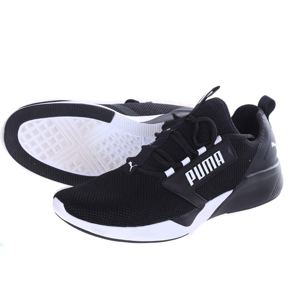 PUMA Men`s Retaliate Training Shoes, Size UK 7.5, Black/ White. Buyers Note