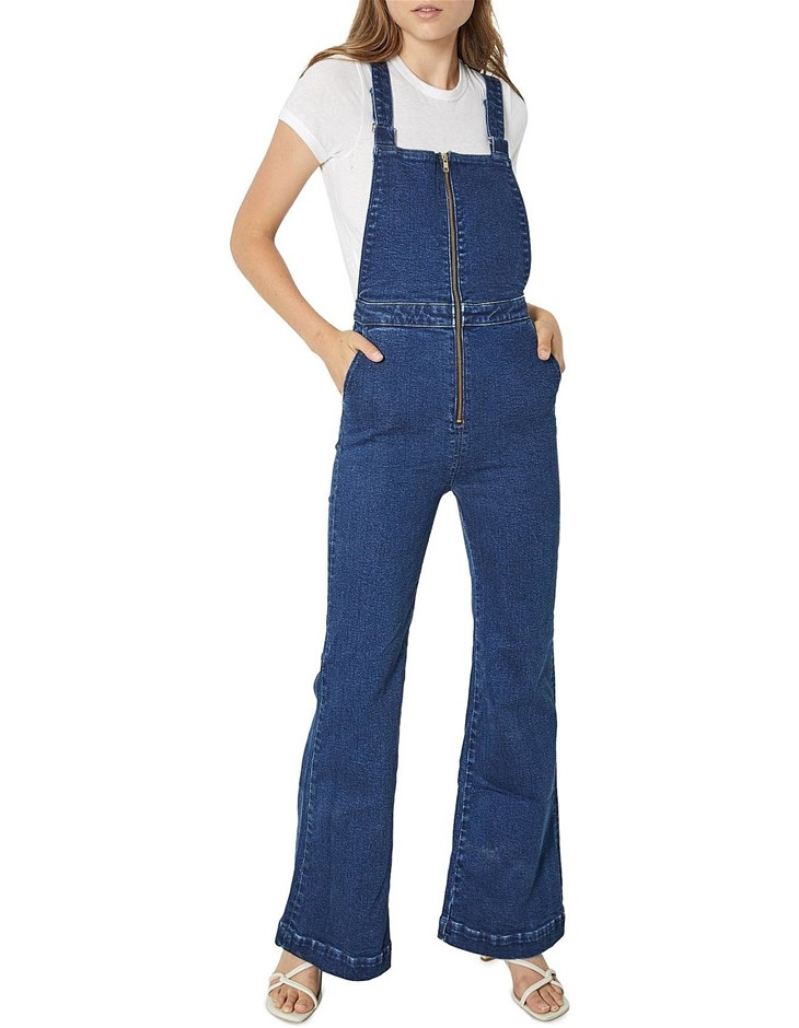 ROLLAS Eastcoast Flare Overall. Size 27, Colour: French Blue. ORP: $180 Buy