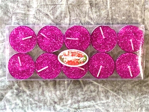 30 (3 x 10 pack) tealight candles - pink