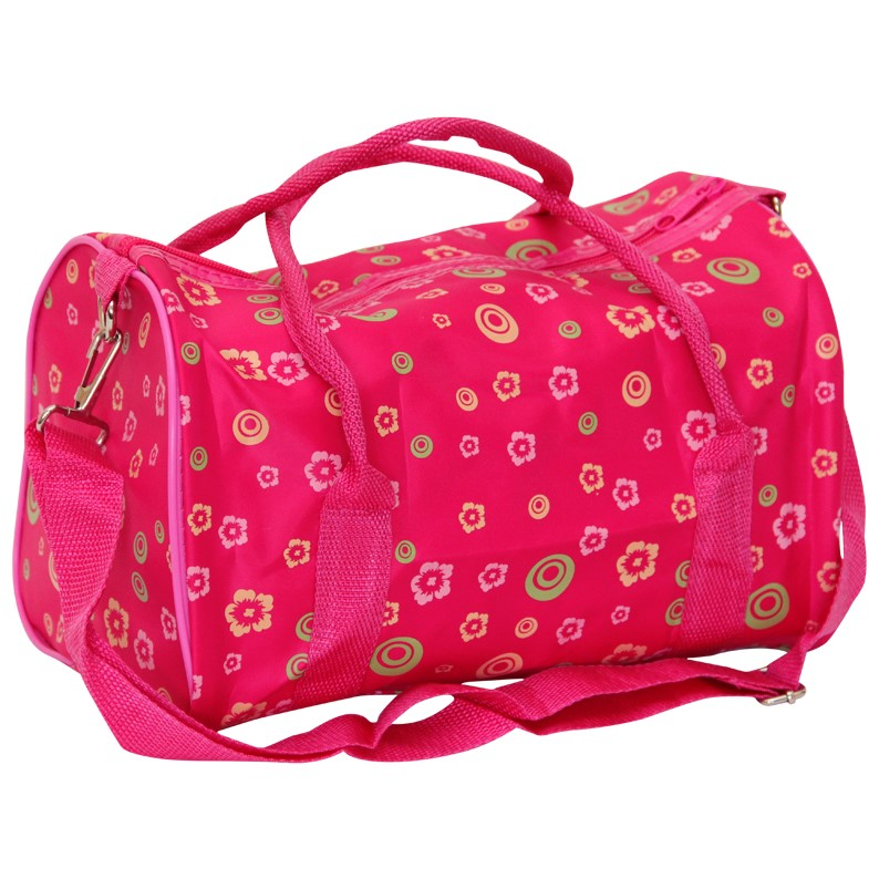 2 x Ladies Pink Toiletry Bag - Barrel Style with handles & shoulder strap