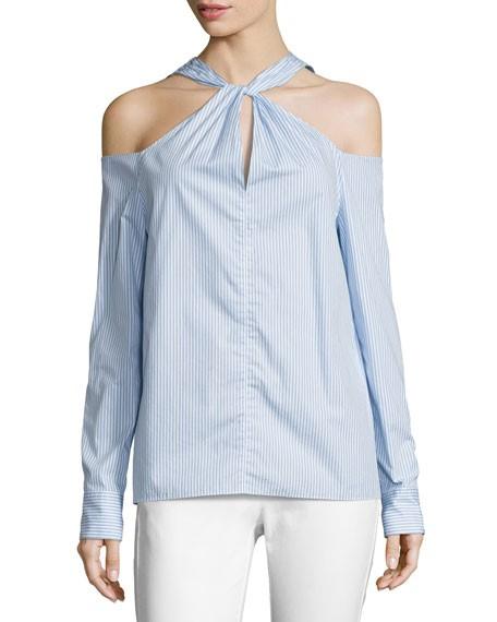 RAG & BONE Collingwood Top. Size XS, Colour: Baby Blue Stripe. ORP: $550 Bu