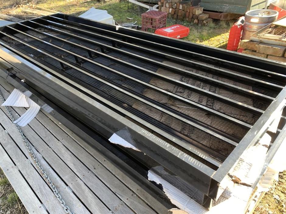 Aluminium louvers, Qty 5, 2600 x 950mm