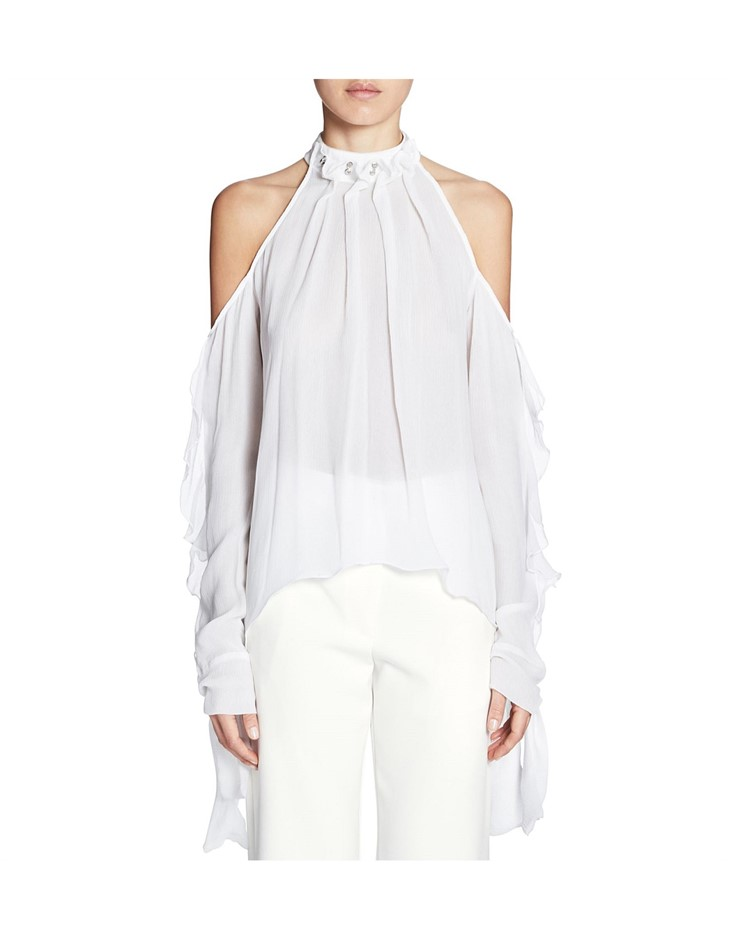 MANNING CARTELL Unpinned Top. Size 6, Colour: White. ORP: $449 Buyers Note