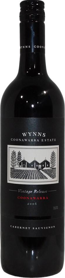 Wynn's Vintage Release Cabernet Sauvignon 2006 (6x 750mL), SA. Screwcap