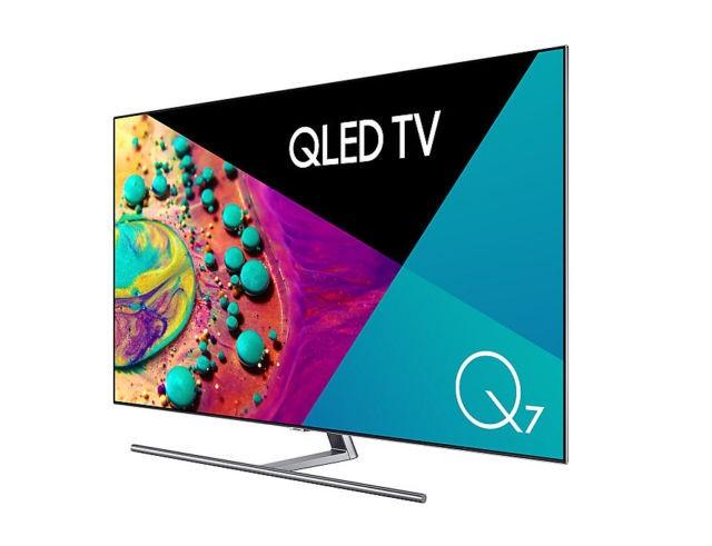 SAMSUNG 65inch HD TV. Model QA65Q7FNAW c/w Remote, Power Cable, SAMSUNG One