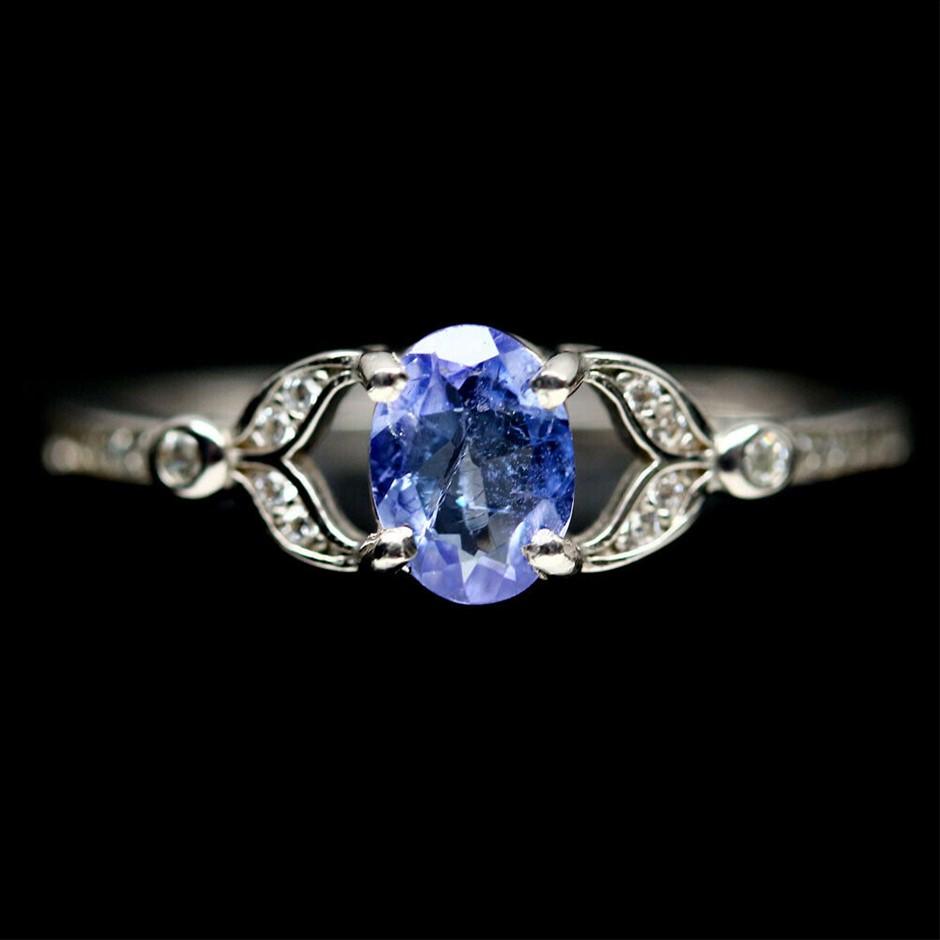 Beautiful Genuine Tanzanite Ring.