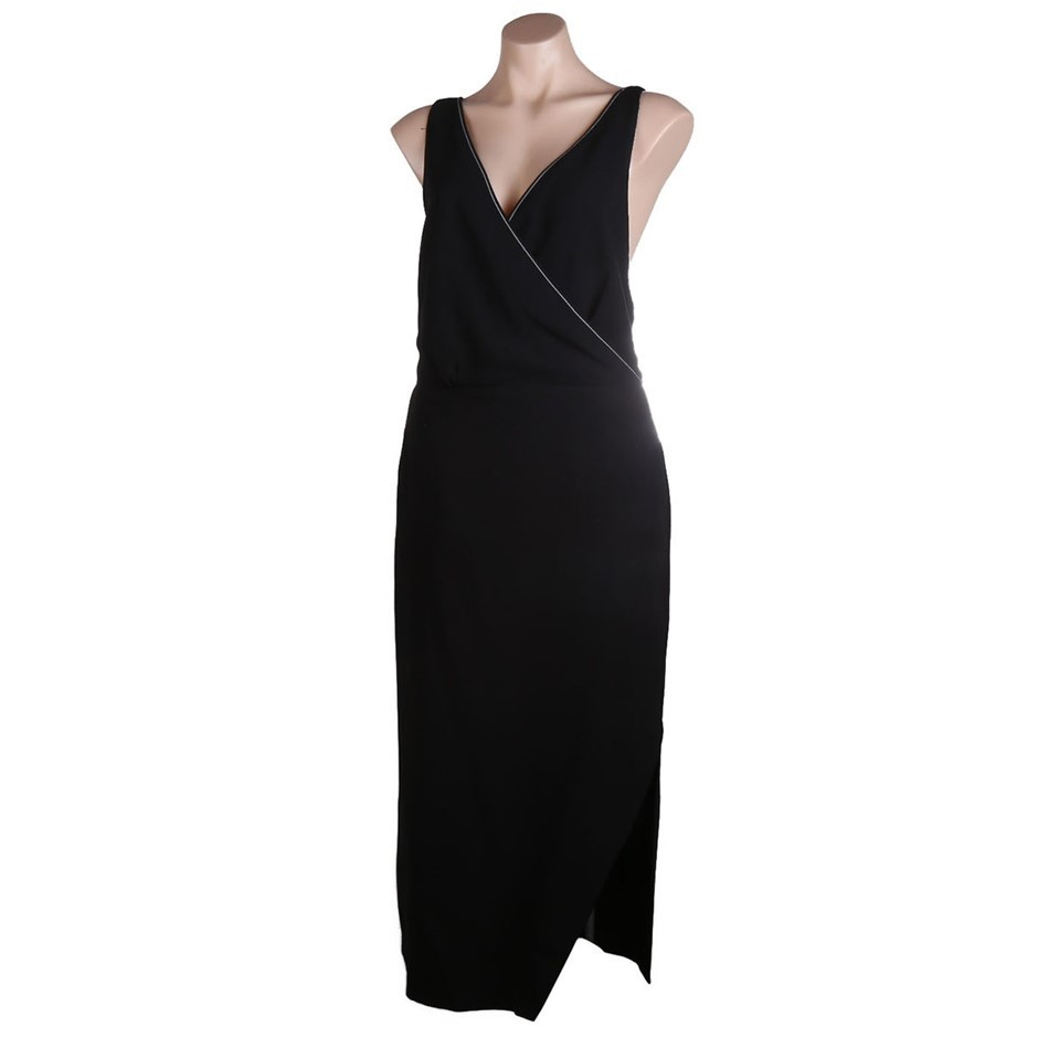 VIKTORIA & WOODS Providence Cross Back Dress. Size 2, Colour: Black. ORP: $