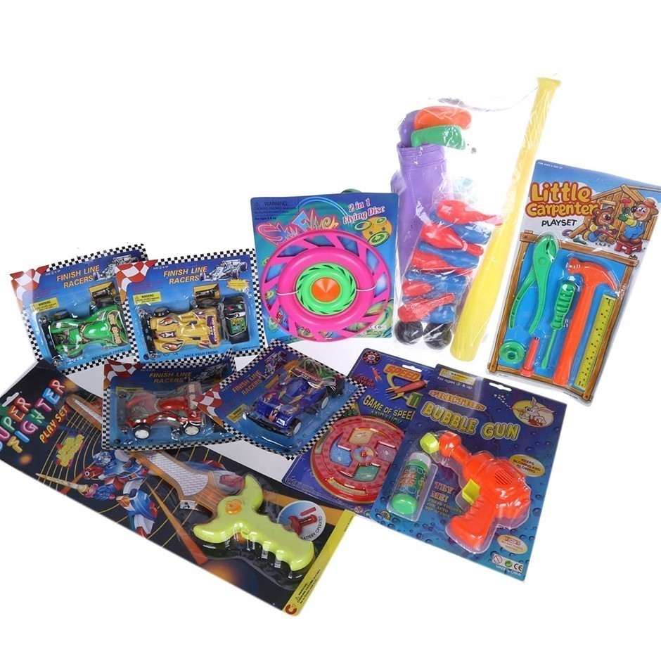 10 x Assorted Children`s Toys; Incl; Golf, Ten Pin Bowling, Cars, Bubble Gu