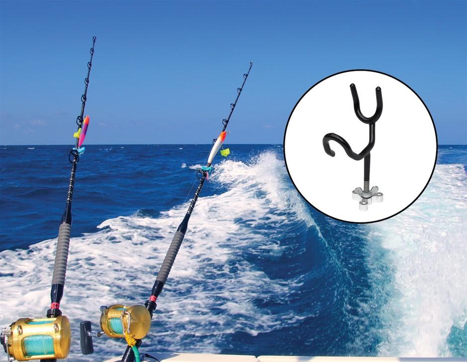 4PC Boat 20 Degree Angle Fishing Pole Rod Holder Mount