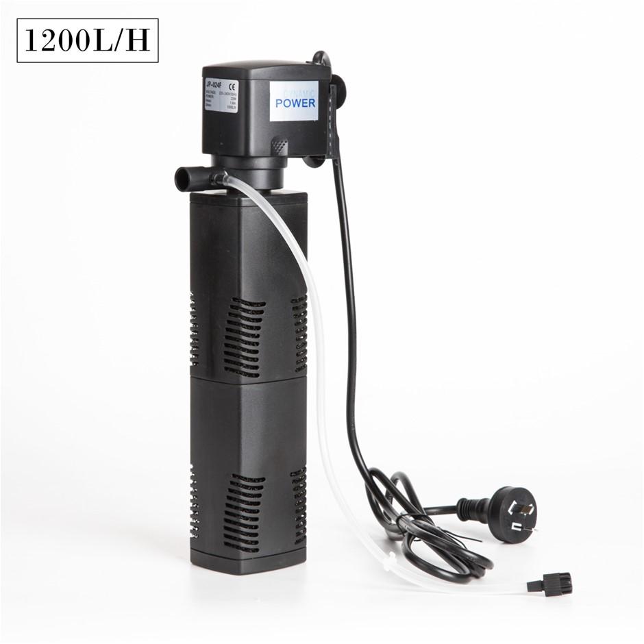 1200L/H 8W 1.6m Aquarium Submersible Filter Pond Pump