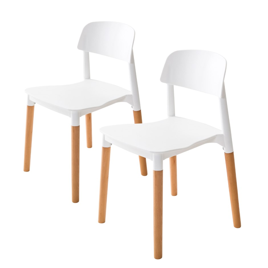 2X Belloch Stackable Dining Chair - WHITE