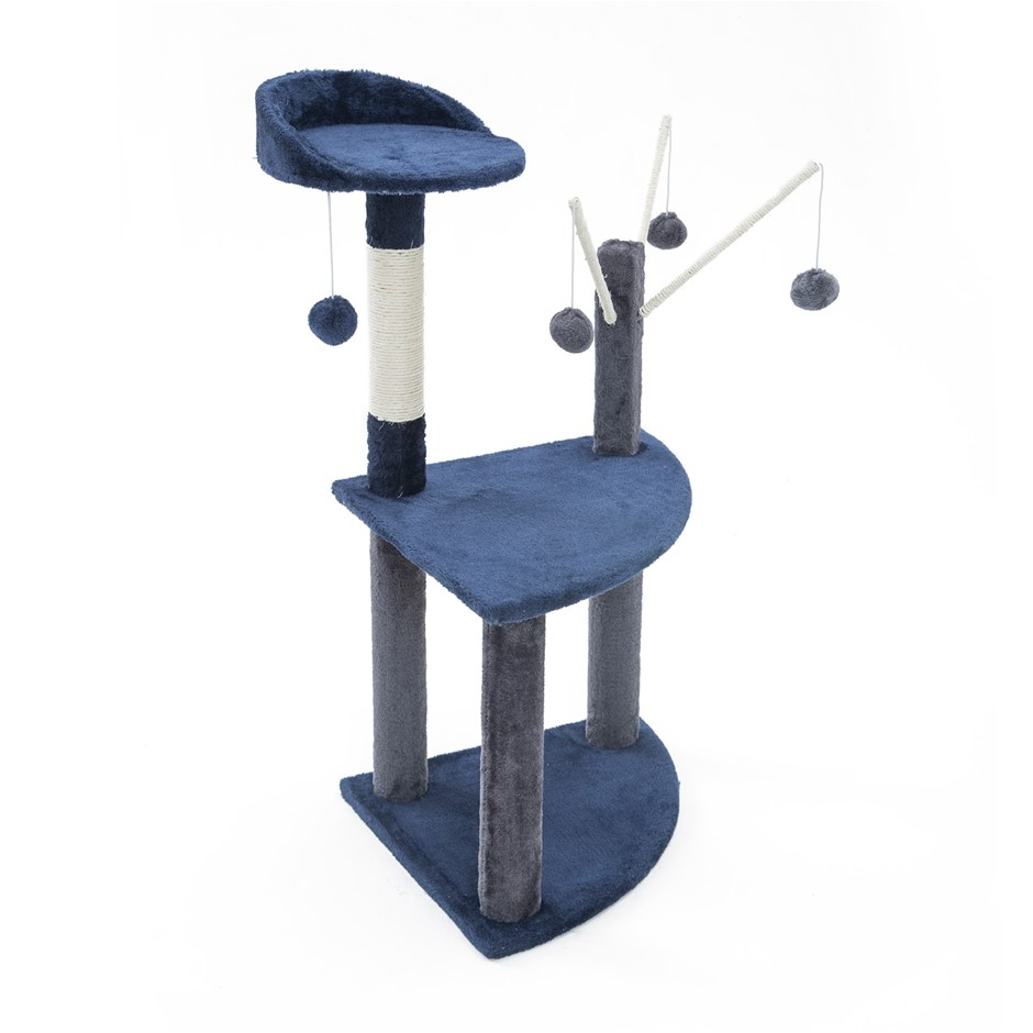 96cm Cat Tree Scratcher LUNA - BLUE
