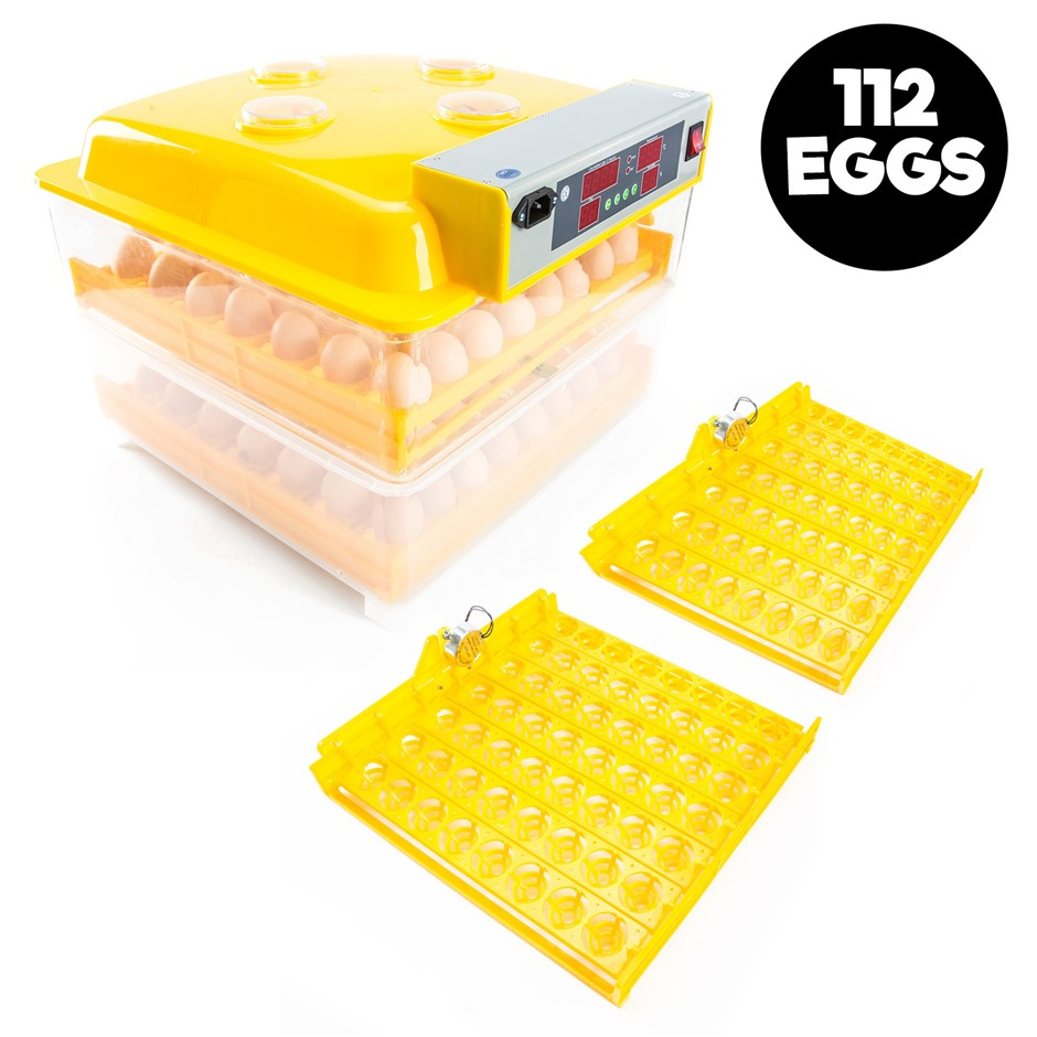 112 Eggs Digital Incubator With Tray