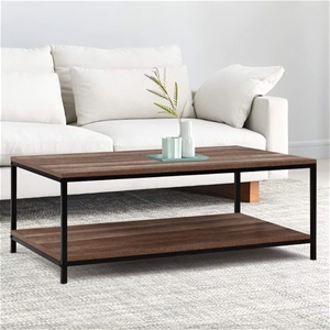Artiss Coffee Table Wooden Rustic Vintag
