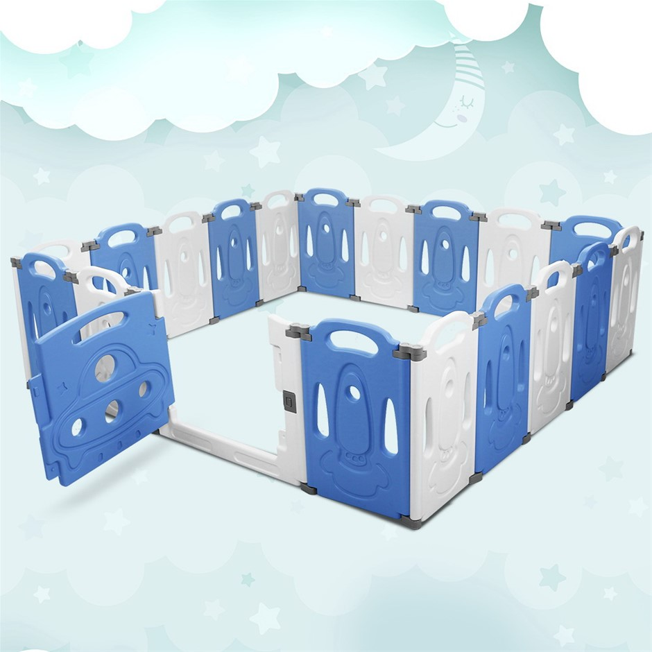Baby Playpen Interactive Safety Gate Play Pen Child Toddler Fence 19 Panels