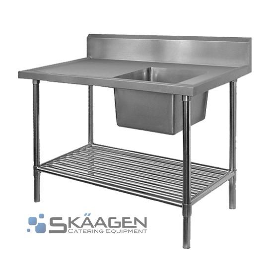 Unused Single Right 1700 x 600 Stainless Steel Sink FSA-1-1700R