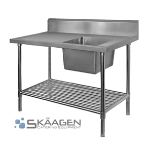 Unused Single Right 1700 x 600 Stainless