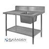 Unused Single Right 1700 x 600 Stainless Steel Sink FSA-1-1700R