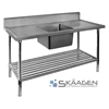 Unused Single Centre 1900 x 600 Stainless Steel Sink FSA-1-1900C