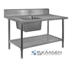 Unused Single Left 2400 x 600 Stainless Steel Sink FSA-1-2400L