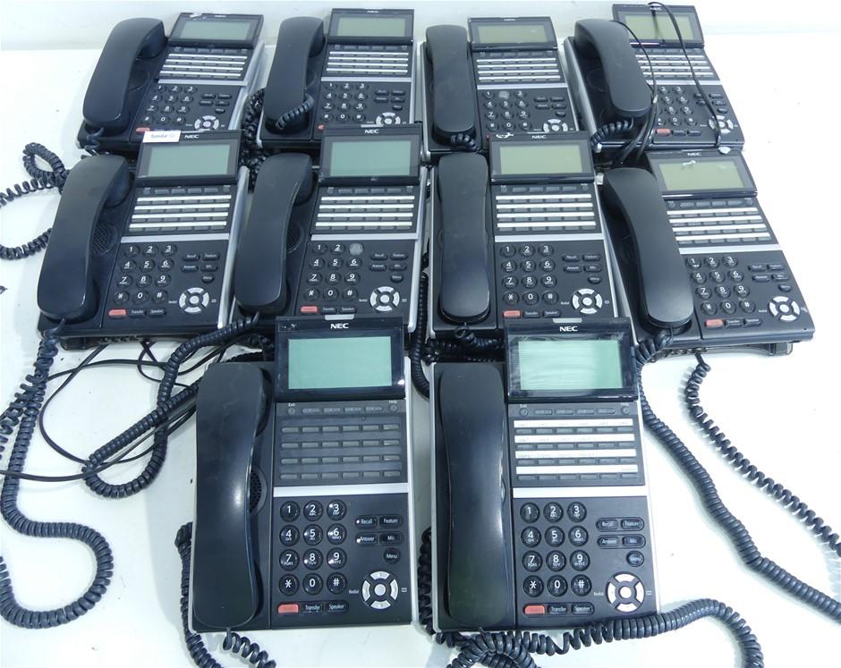 10 x NEC DT400 DTZ-24D-3A (BK) Key Telephone