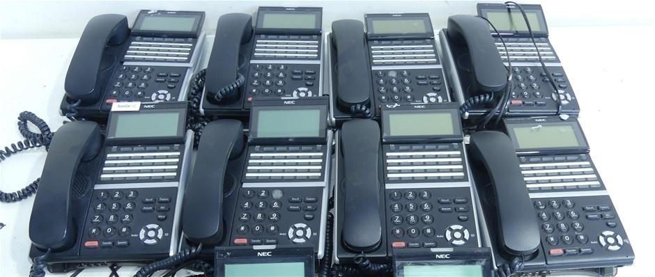 8 x NEC DT400 DTZ-24D-3A (BK) Key Telephone