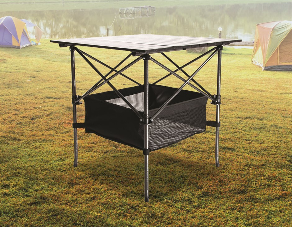 Folding Collapsible Camping Table Caravan RV Heavy Duty Steel & Aluminium