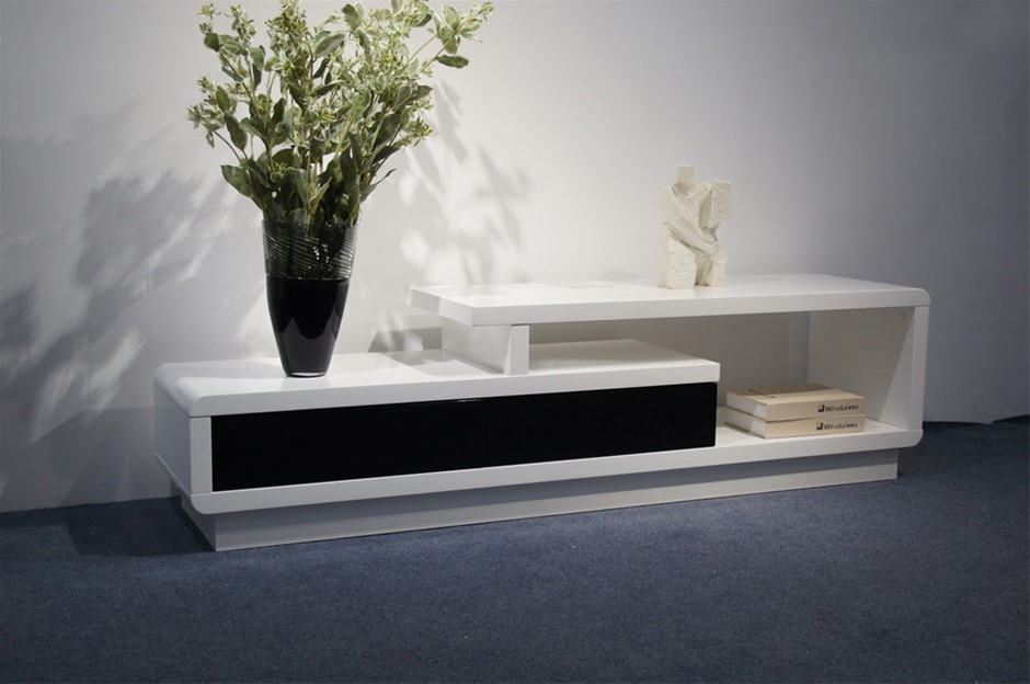 This elegant TV cabinet comes White High Gloss Paint on MDF
