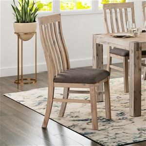Java Dining Chair has a vintage look wit