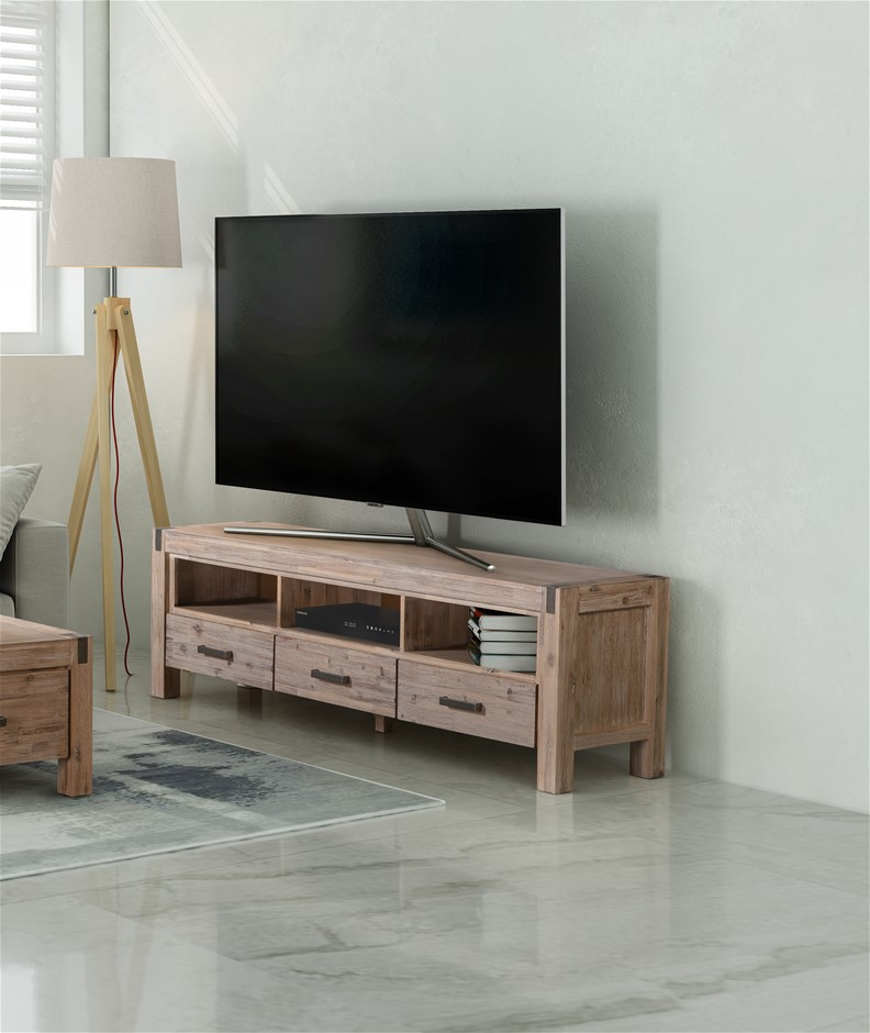 Java TV Unit made from Solid and Veneered Acacia Frames