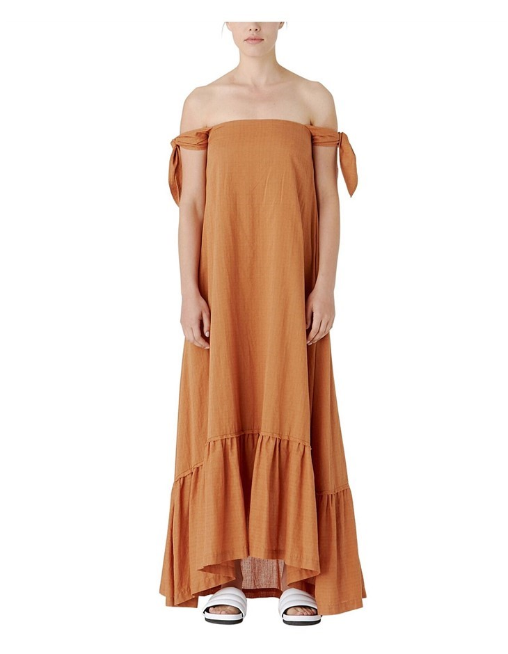 CAMILLA AND MARC Isa Maxi Dress. Size 6, Colour: Tan. ORP $399 Buyers Note